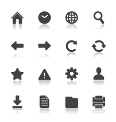 Website and toolbar icons vector