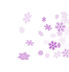winter snowflakes border simple background vector image
