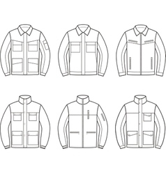 Work jacket set vector image