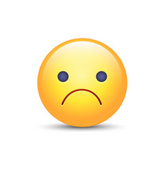 Worried cartoon emoji frustrated distressed vector