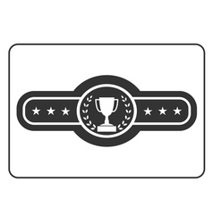 Champion belt icon award vector