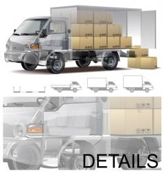 delivery cargo truck cutaway vector image vector image