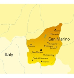 san marino country vector image