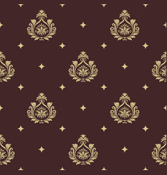 vintage pattern seamless baroque with element vector image
