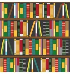 wooden bookshelf with books vector image vector image