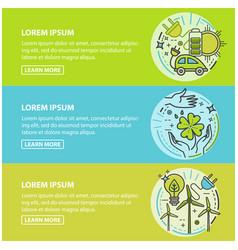 ecology green technology organic bio vector image vector image