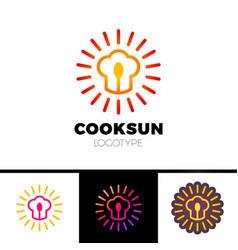 kitchen cafe restaurant - logo template vector image vector image