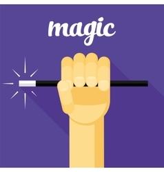 magic magic wand in hand vector image