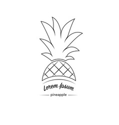 pineapple icon logo vector image vector image