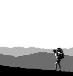 lone traveler vector image vector image