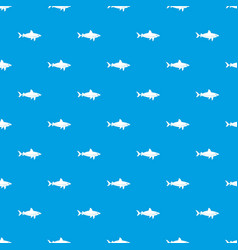 shark fish pattern seamless blue vector image