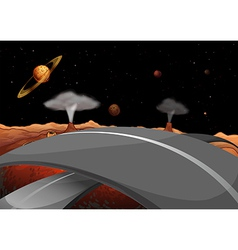 A road in the outer space vector image