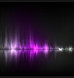 Abstract equalizer background violet wave vector