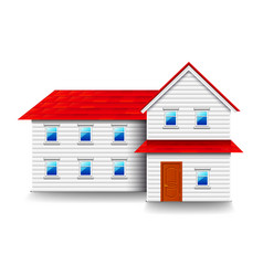 house with small windows isolated on white vector image vector image