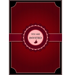 Red abstract invitation vector image