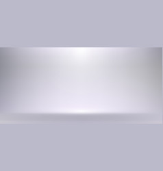 3d empty white and gray studio room background vector