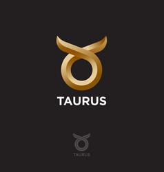 abstract bull head horns zodiac sign taurus vector image