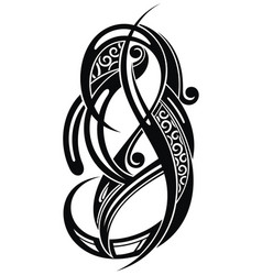 abstract decorative tattoo vector image