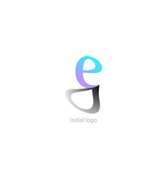 abstract logo template e g letter graphic design vector image