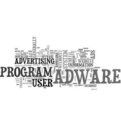 adware overview text word cloud concept vector image
