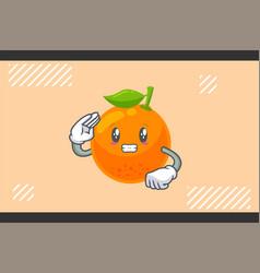 Anxious anxiously anxiousness face orange citrus vector