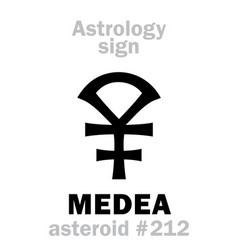 astrology asteroid medea vector image