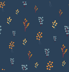 autumn berries seamless pattern delicate vector image
