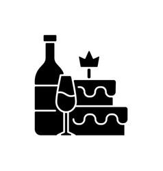 Bachelorette party black glyph icon vector