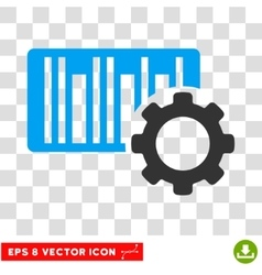 Bar Code Settings Eps Icon vector