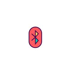 bluetooth icon design essential icon design vector image