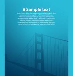 Bridge on blue background vector