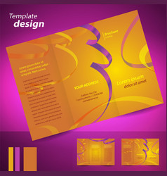 brochure design template folder leaflet confetti vector image