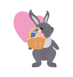 bunny egg easter vector image