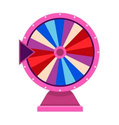 Cartoon wheel fortune lottery design element vector