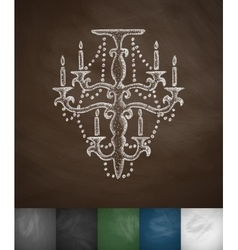 Chandelier icon vector