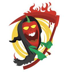 chili death vector image