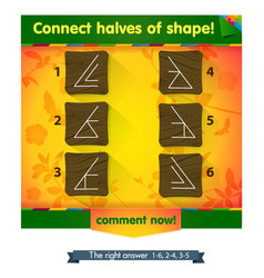 Connect halves shapes vector