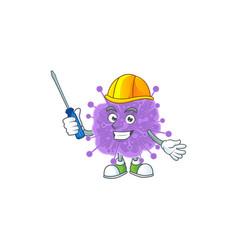 Cool automotive cartoon coronavirus influenza vector