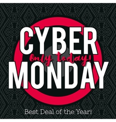 Cyber Monday sale banner on black background vector