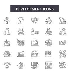 development line icons signs set outline vector image