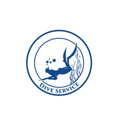 diving-service-logo vector image