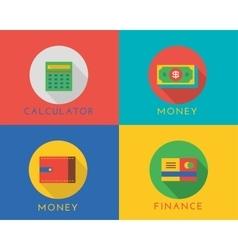 E-commerce money logo icons set Shop vector