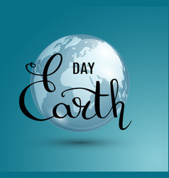 Earth day poster vector