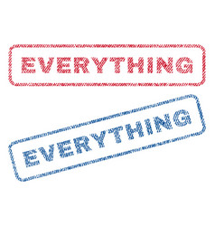 everything textile stamps vector image