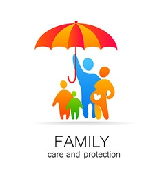 family care protection vector image