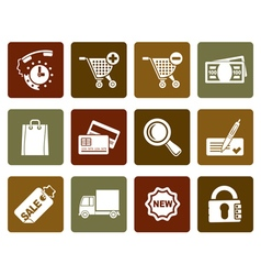 Flat internet icons for online shop vector