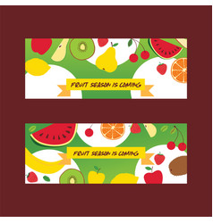 fruit pattern seamless fruity background vector image