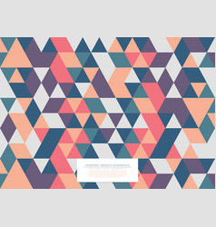 Geometric abstract pattern collection triangular vector