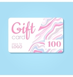 Gift Card business discount template with vector image