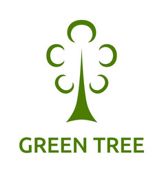 Green tree symbol vector
